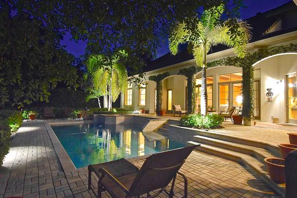 twilight pool house